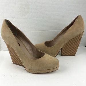 7 For all mankind chunky heel nude shoes 8.5